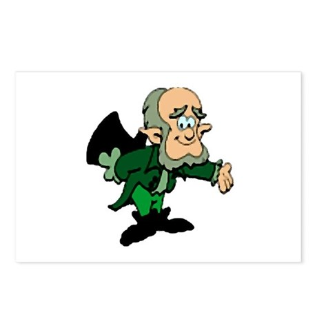 Leprechaun Bowing Postcards (Package of 8)