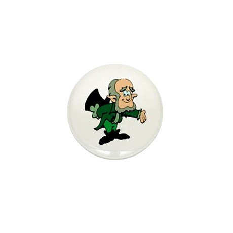 Leprechaun Bowing Mini Button