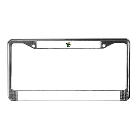 Leprechaun Bowing License Plate Frame