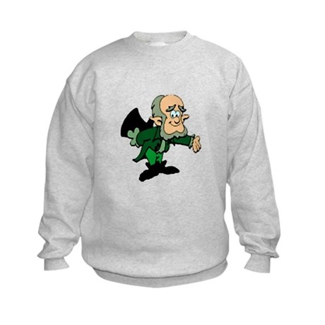 Leprechaun Bowing Kids Sweatshirt