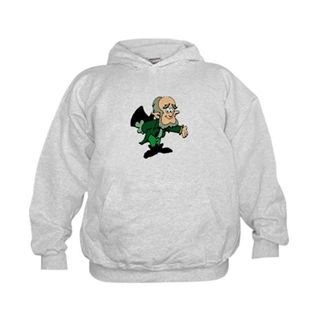 Leprechaun Bowing Kids Hoodie