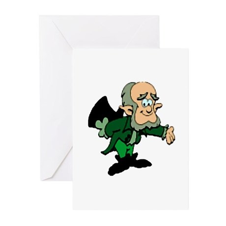 Leprechaun Bowing Greeting Cards (Pk of 10)