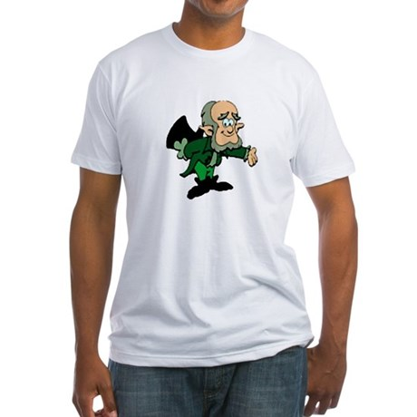 Leprechaun Bowing Fitted T-Shirt