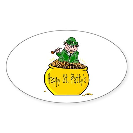 Pot of Gold Oval Sticker