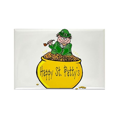 Pot of Gold Rectangle Magnet (100 pack)