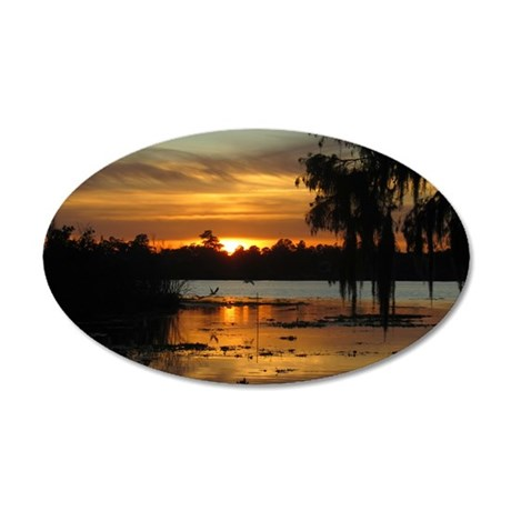 Lowcountry Sunset 35x21 Oval Wall Decal