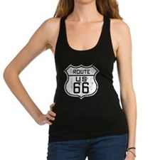 Route66_Distressed Racerback Tank Top