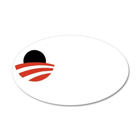 obama-must-go-dark 35x21 Oval Wall Decal