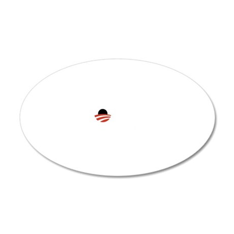 obama-must-go-dark 20x12 Oval Wall Decal