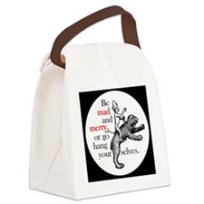 Monkey riding bear Canvas Lunch Bag