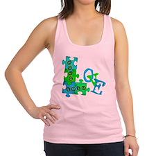 love_puzzle_piece Racerback Tank Top