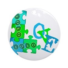 love_puzzle_piece Round Ornament