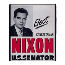 ART Nixon for Senate Throw Blanket