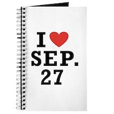 I Heart September 27 Journal