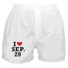 I Heart September 29 Boxer Shorts