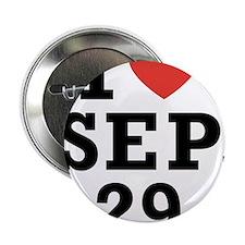 I Heart September 29 Button