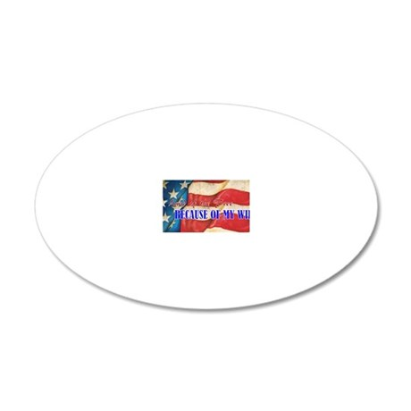 Land of the Free 20x12 Oval Wall Decal
