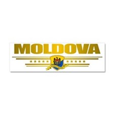 Moldova (Flag 10) pocket 2 Car Magnet 10 x 3