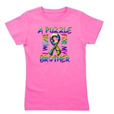 I Wear A Puzzle for my Brother Girl's Tee