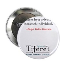 "Ralph Waldo Emerson Quote Tall 2.25"" Button"