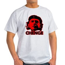 Che-Bama v4 Black On Red T-Shirt