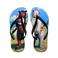 4 bears out west Flip Flops