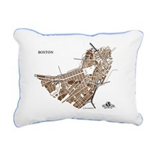 M-YL_BOS-MA_GD-BK_1 Rectangular Canvas Pillow