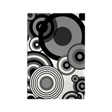 BW circles journal Rectangle Magnet