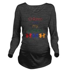 Children-are-my-busi Long Sleeve Maternity T-Shirt