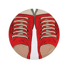 """Red Sneakers 3.5"""" Button"""