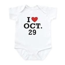 I Heart October 29 Onesie