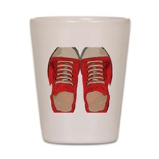 Red Sneakers Shot Glass