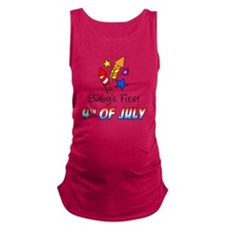 Babys First July 4th Maternity Tank Top