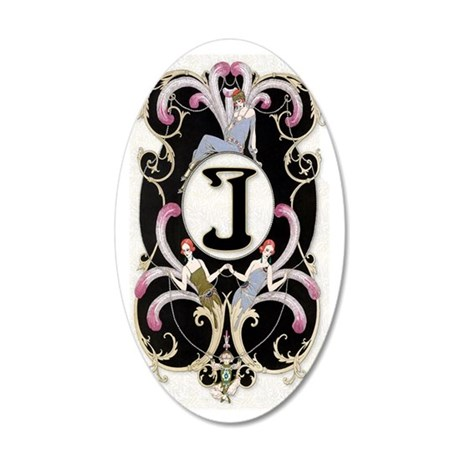 3G J BARBIER FF 35x21 Oval Wall Decal