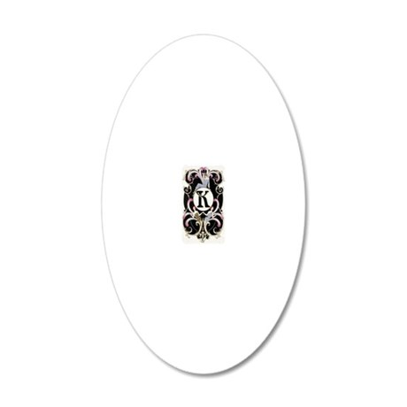 3G K BARBIER FF 20x12 Oval Wall Decal
