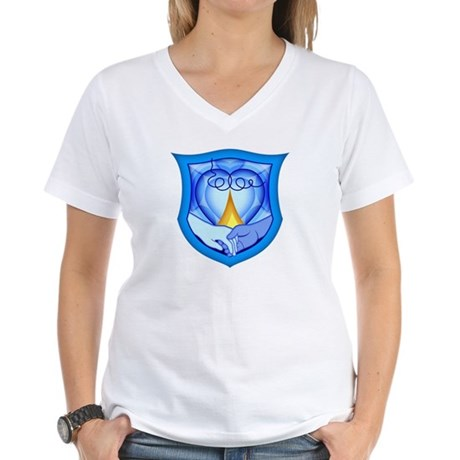 2 Souls 1 Heart Women's V-Neck T-Shirt