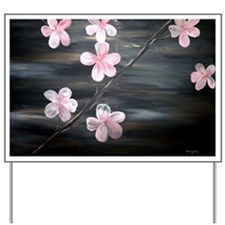 cherry blossom print Yard Sign