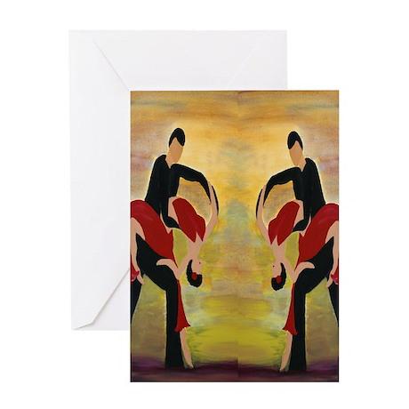 Ballroom Dancers Greeting Card