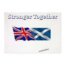 Stronger Together flags dark 6000 5'x7'Area Rug