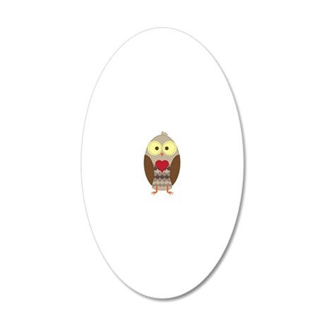 owl 20x12 Oval Wall Decal
