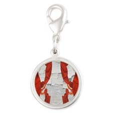 Lobster Silver Round Charm