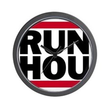 RUN HOU_light Wall Clock