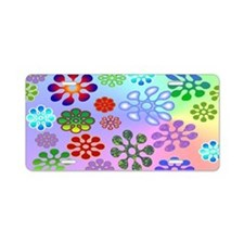 Flower Power mini wallet Aluminum License Plate