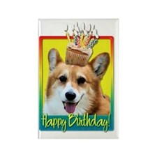 BirthdayCupcakeCorgiOwenHB Rectangle Magnet
