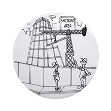 6674_smoking_cartoon Round Ornament