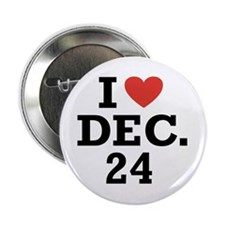I Heart December 24 Button