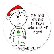 Payne-Christmas Round Car Magnet