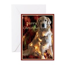Golden Retriever Merry Christmas Card Greeting Car