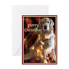 Golden Retriever Merry Christmas Card Greeting Car