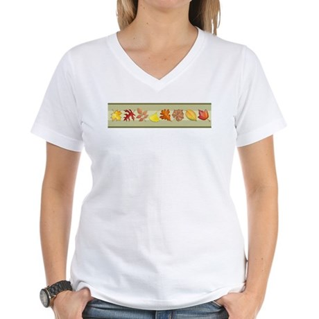 Leaves Women's V-Neck T-Shirt